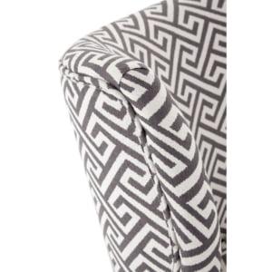 Grey and White Geometric Chair