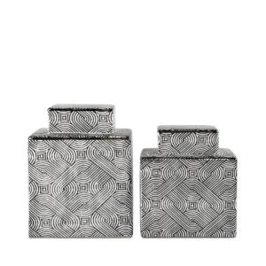 Cubix Black & White Jar - Two Sizes!