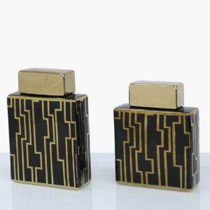 Jessica Black & Gold Jar - Two Sizes!