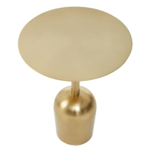 Signature Crissa Brushed Gold Side Table