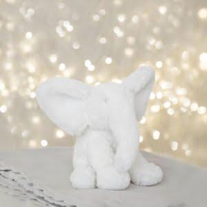 Bambino White Plush Elephant - Two Sizes!