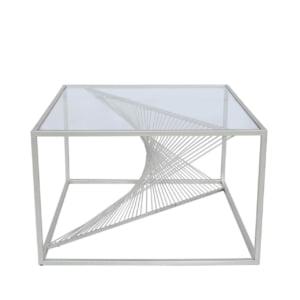 Stellar Silver & Glass Coffee Table