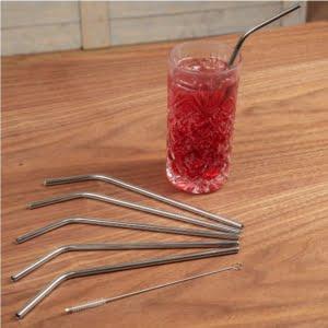 Curved Drinking Straws Set