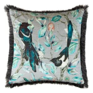 Valas magpie square cushion