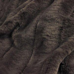 Duchess Taupe Faux Fur Throw