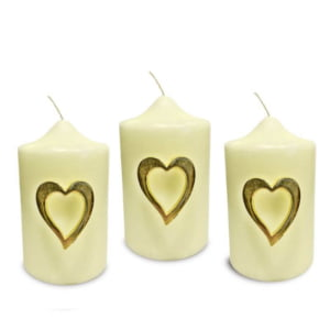 Gold Cut Out Heart Pins